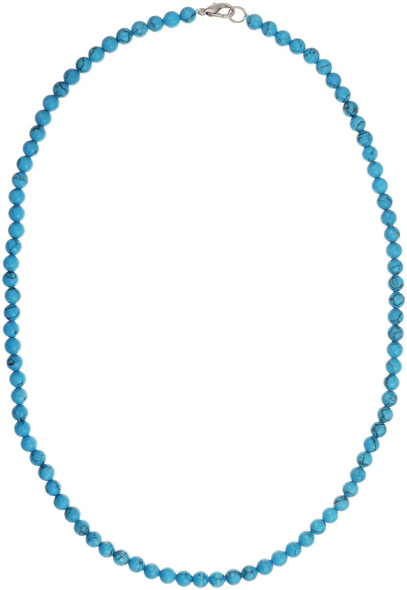 Бусы Art-Silver, цвет: голубой, длина 55 см. Б6-55-131Бусы-ниткаБусы Art-Silver выполнены из натуральной бирюзы. Украшение имеет удобную застежку-карабин из бижутерного сплава.Мелкие бусины диаметром 5 мм из натуральной бирюзы, нанизанные на текстильную нить, имеют характерные прожилки, что подчеркивает естественное происхождение бусин.