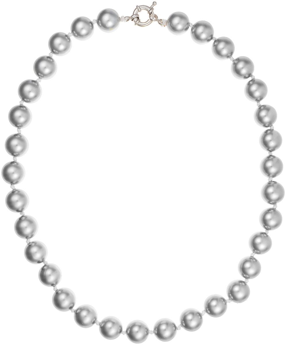 Бусы Art-Silver, цвет: серый, длина 45 см. МАЙ31245-556Бусы-ниткаБусы Art-Silver выполнены из бижутерного сплава и искусственного жемчуга. Изделие оснащено удобной шпренгельной застежкой.