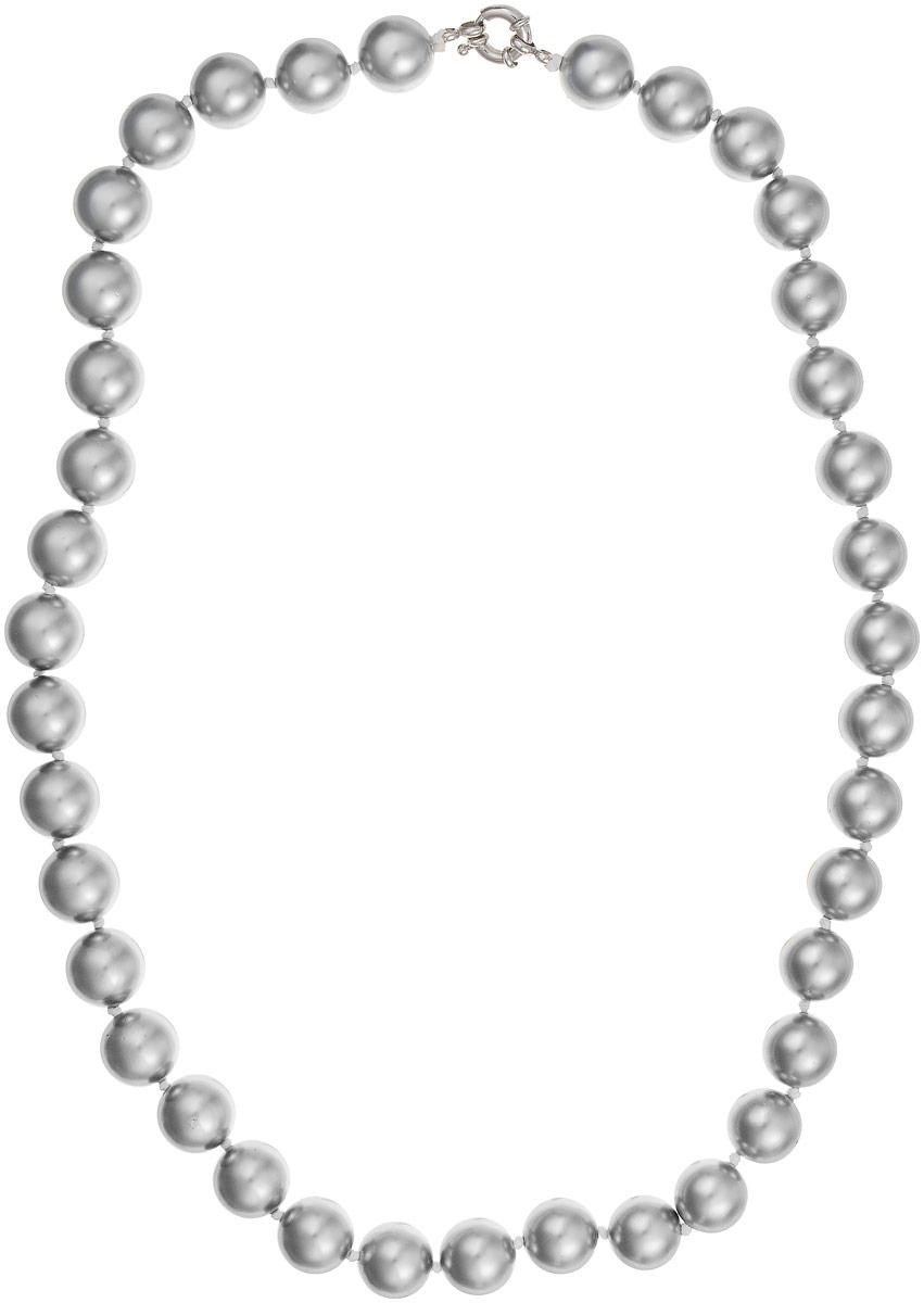 Бусы Art-Silver, цвет: серебристый, длина 60 см. МАЙ31460-972Бусы-ниткаБусы Art-Silver выполнены из имитации жемчуга, нанизанного на текстильную нить. Украшение дополнено крупным удобным шпренгельным замочком из бижутерного сплава.Крупные бусины диаметром 13 мм выполнены в оригинальном серебристом цвете. Материал бусин по свойствам и виду максимально близок к натуральному жемчугу.