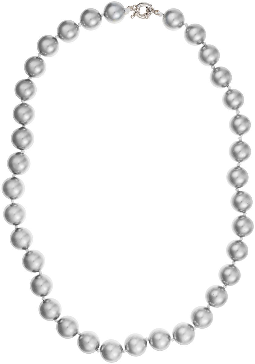 Бусы Art-Silver, цвет: серый металлик, длина 55 см. МАЙ31455-905Бусы-ниткаБусы Art-Silver изготовлены из материала майорка, который схож по свойствам с натуральным жемчугом. Изделие оформлено крупными однотонными бусинами и застегивается на шпренгельный замок из бижутерного сплава.