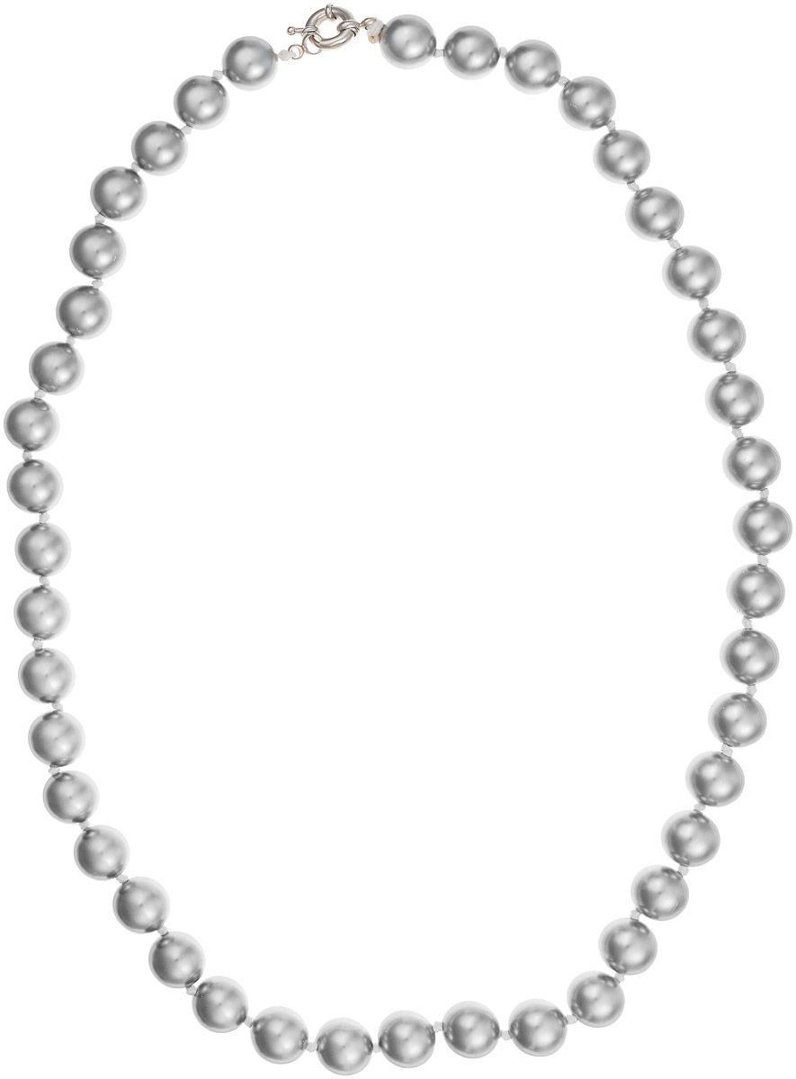 Бусы Art-Silver, цвет: серебристый, длина 60 см. МАЙ31260-743Бусы-ниткаБусы Art-Silver выполнены из имитации жемчуга, нанизанного на текстильную нить. Украшение дополнено крупным удобным шпренгельным замочком из бижутерного сплава.Бусины диаметром 10 мм выполнены в оригинальном серебристом цвете. Материал бусин по свойствам и виду максимально близок к натуральному жемчугу.