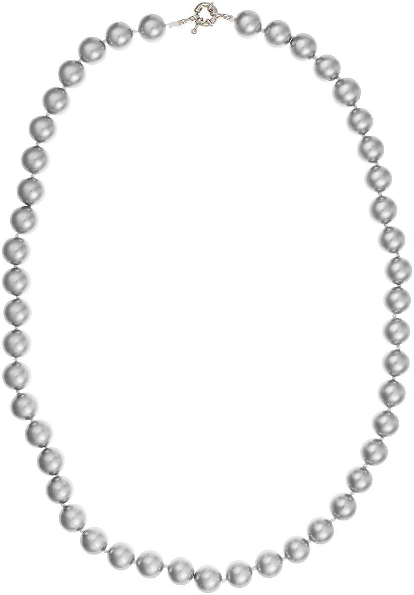 Бусы Art-Silver, цвет: серый, длина 55 см. МАЙ31055-554Бусы-ниткаБусы Art-Silver выполнены из бижутерного сплава и искусственного жемчуга. Изделие оснащено удобной шпренгельной застежкой.