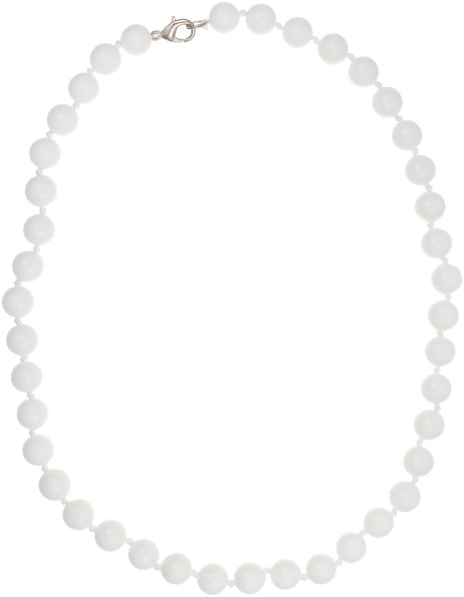 Бусы Art-Silver, цвет: белый, длина 50 см. КХ10-50-257Бусы-ниткаБусы Art-Silver выполнены из белоснежного кахолонга, нанизанного на текстильную нить. Украшение имеет удобный замок-карабин из бижутерного сплава.Бусины диаметром 11 мм из натурального кахолонга, который также называют калмыцким агатом, имеют благородный белый цвет, который превосходно подойдет как к вечерним, так и к повседневным нарядам.