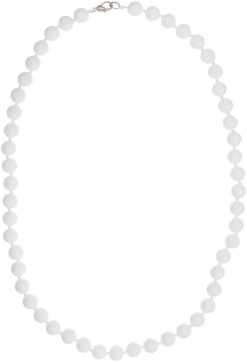 Бусы Art-Silver, цвет: белый, длина 60 см. КХ10-60-311Бусы-ниткаБусы Art-Silver выполнены из белоснежного кахолонга, нанизанного на текстильную нить. Украшение имеет удобный замок-карабин из бижутерного сплава.Бусины диаметром 10 мм из натурального кахолонга, который также называют калмыцким агатом, имеют благородный белый цвет, который превосходно подойдет как к вечерним, так и к повседневным нарядам.