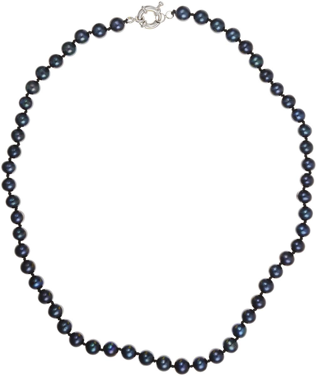 Бусы Art-Silver, цвет: черно-синий, длина 45 см. КЖ6-7АА+45-1173Бусы-ниткаБусы Art-Silver выполнены из культивированного жемчуга, нанизанного на текстильную нить. Украшение застегивается на практичный шпренгельный замок.Мелкие бусины диаметром 6-8 мм из натурального культивированного жемчуга благородного черного цвета с синим отливом имеют слегка неоднородную форму, что подчеркивает естественное происхождение жемчужин.