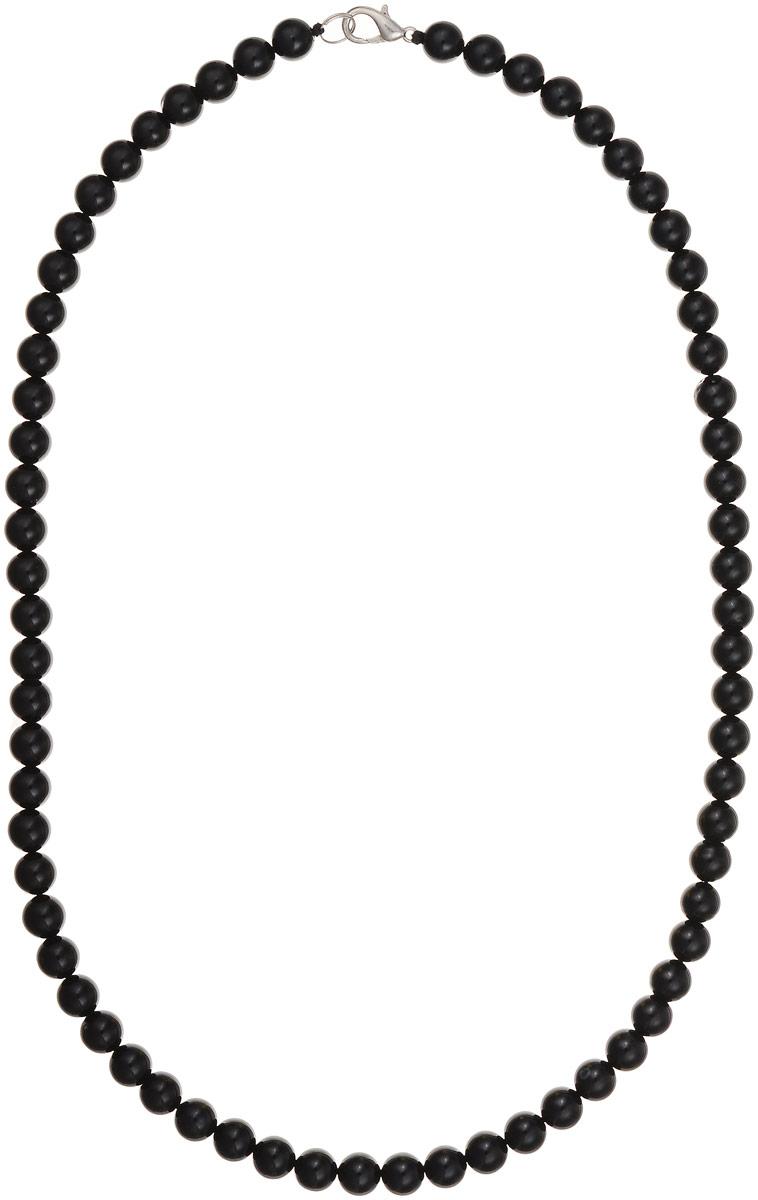 Бусы Art-Silver, цвет: черный, длина 55 см. ЧА8-55-282Бусы-ниткаБусы Art-Silver выполнены из натурального агата, нанизанного на текстильную нить. Украшение застегивается на практичный карабин из бижутерного сплава.Мелкие бусины диаметром 7 мм имеют благородный черный цвет, характерный для агата. Такие бусы украсят как вечерний, так и повседневный наряд.