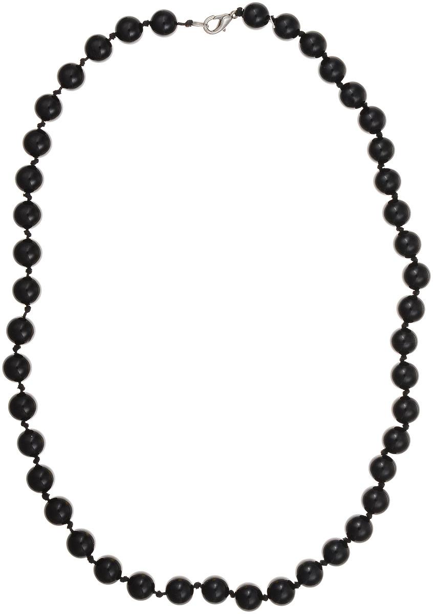 Бусы Art-Silver, цвет: черный, длина 55 см. ЧА10-55-381Бусы-ниткаБусы Art-Silver выполнены из натурального агата, нанизанного на текстильную нить. Украшение застегивается на практичный карабин из бижутерного сплава. Бусины диаметром 10 мм имеют благородный черный цвет, характерный для агата. Такие бусы украсят как вечерний, так и повседневный наряд.