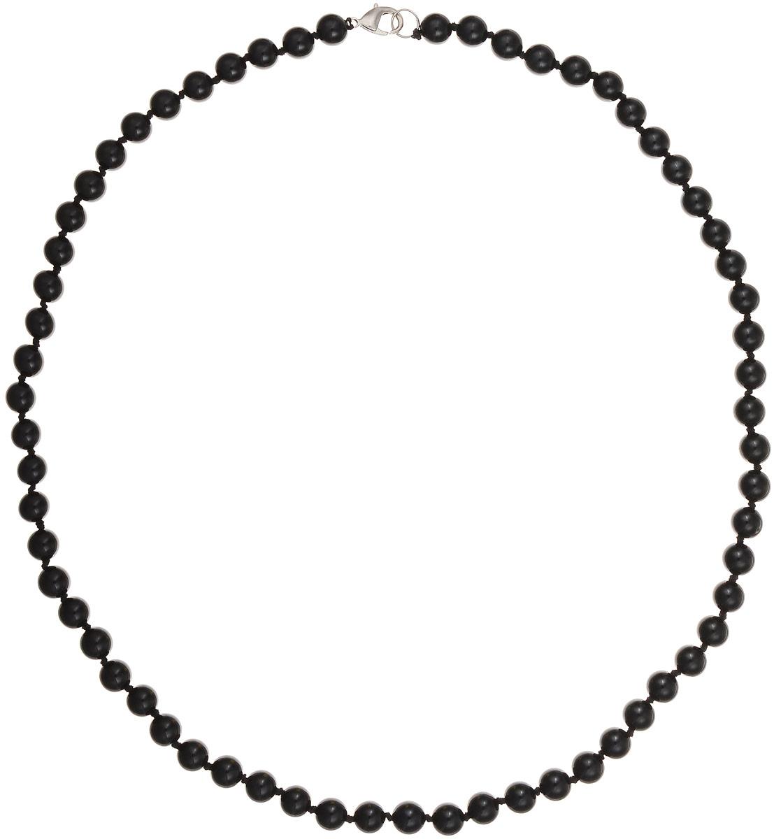 Бусы Art-Silver, цвет: черный, длина 60 см. ЧА8-60-309Бусы-ниткаБусы Art-Silver выполнены из натурального агата, нанизанного на текстильную нить. Украшение застегивается на практичный карабин из бижутерного сплава. Бусины диаметром 7 мм имеют благородный черный цвет, характерный для агата. Такие бусы украсят как вечерний, так и повседневный наряд.