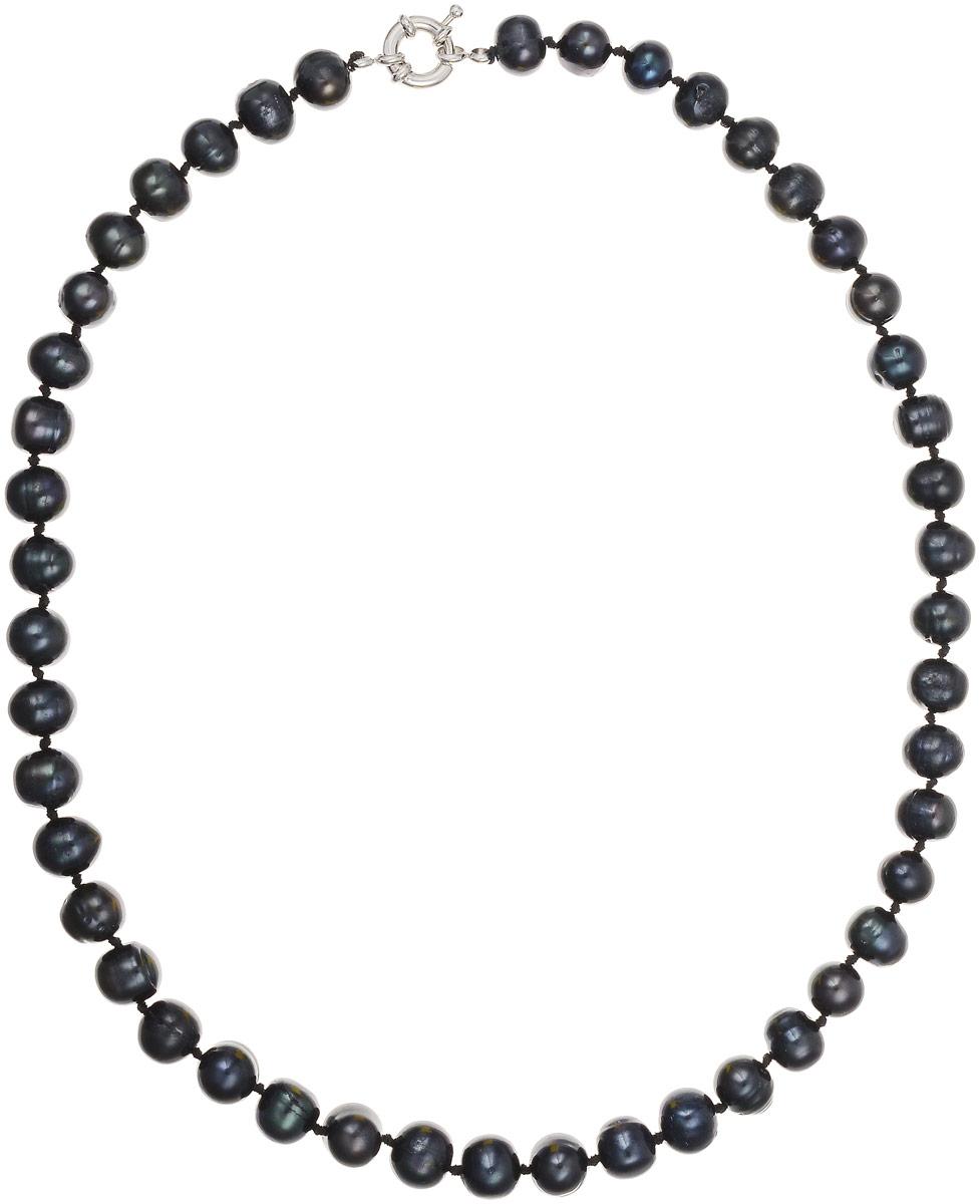 Бусы Art-Silver, цвет: черно-синий, длина 45 см. КЖ9-10А45-464Бусы-ниткаБусы Art-Silver выполнены из культивированного жемчуга, нанизанного на текстильную нить. Украшение застегивается на практичный шпренгельный замок.Мелкие бусины диаметром 6-8 мм из натурального культивированного жемчуга благородного черного цвета с синим отливом имеют слегка неоднородную форму, что подчеркивает естественное происхождение жемчужин.