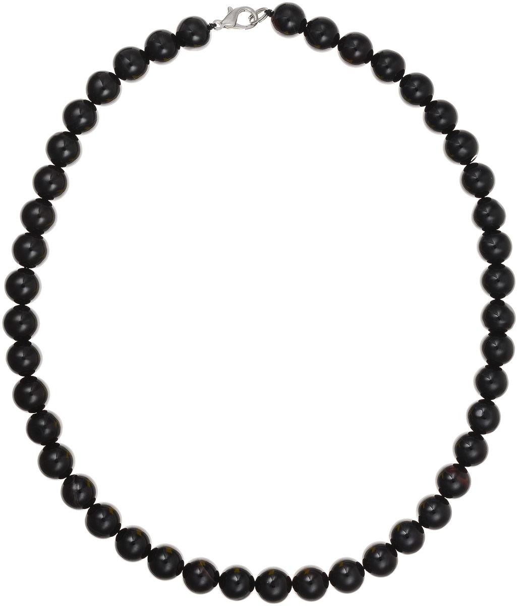 Бусы Art-Silver, цвет: черный, длина 45 см. ЧА10-45-310Бусы-ниткаБусы Art-Silver выполнены из натурального агата, нанизанного на текстильную нить. Украшение застегивается на практичный карабин из бижутерного сплава. Бусины диаметром 10 мм имеют благородный черный цвет, характерный для агата. Такие бусы украсят как вечерний, так и повседневный наряд.