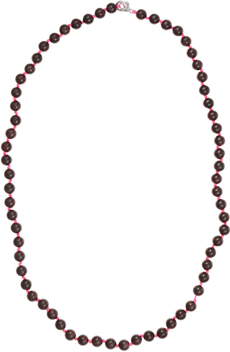Бусы Art-Silver, цвет: темно-бордовый, длина 60 см. Г8-60-346Бусы-ниткаБусы Art-Silver выполнены из натурального граната, нанизанного на текстильную нить. Украшение застегивается на практичный карабин из бижутерного сплава.Мелкие бусины диаметром 6 мм имеют неоднородную окраску с прожилками разнообразной формы, характерную для натурального камня. Нить окрашена в ярко-розовый цвет, который подчеркивает глубокий темно-бордовый оттенок граната.