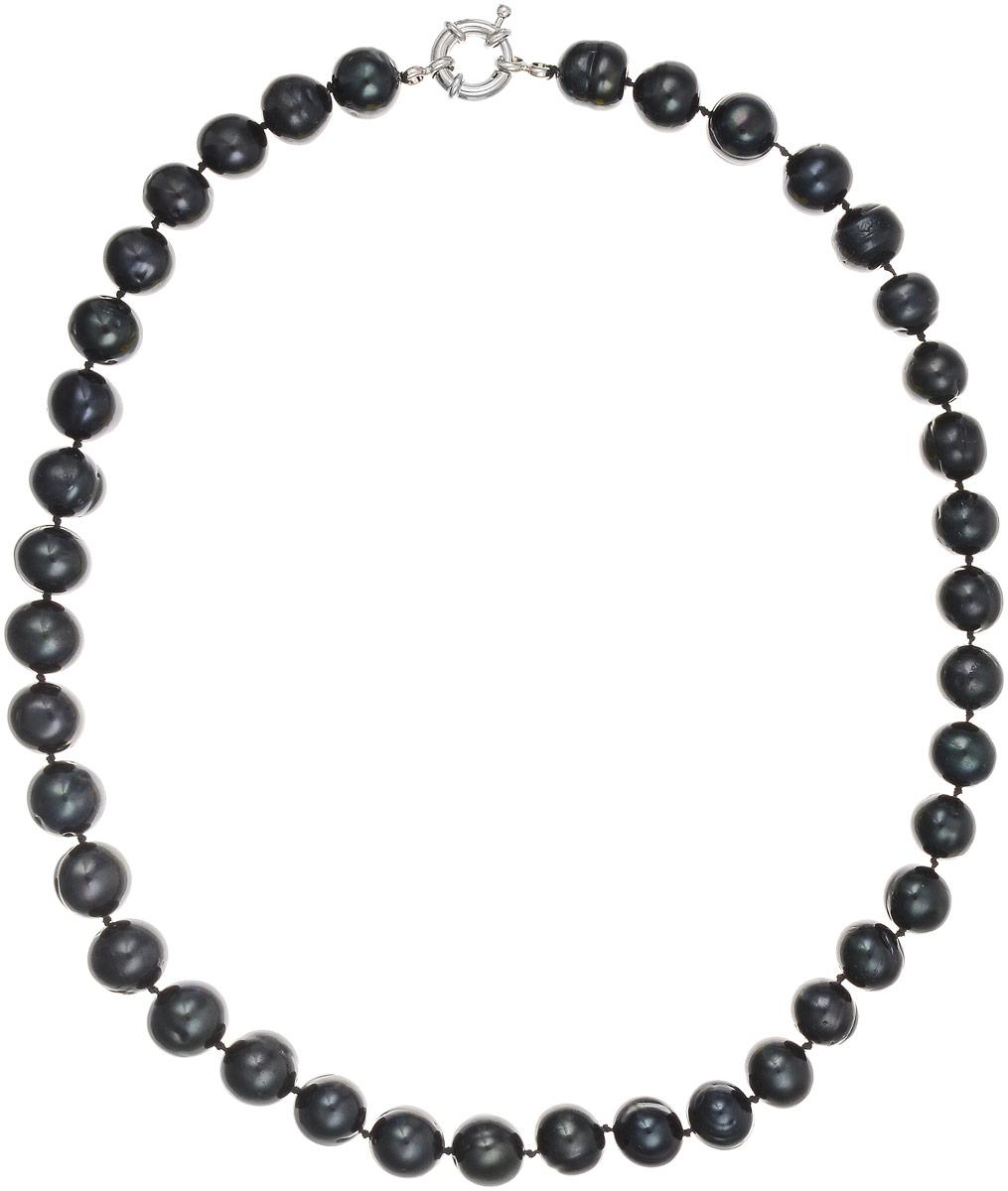 Бусы Art-Silver, цвет: черно-синий, длина 45 см. КЖ11-12А+45-806Бусы-ниткаБусы Art-Silver выполнены из культивированного жемчуга, нанизанного на текстильную нить. Украшение застегивается на практичный шпренгельный замок.Мелкие бусины диаметром 10 мм из натурального культивированного жемчуга благородного черного цвета с синим отливом имеют слегка неоднородную форму, что подчеркивает естественное происхождение жемчужин.