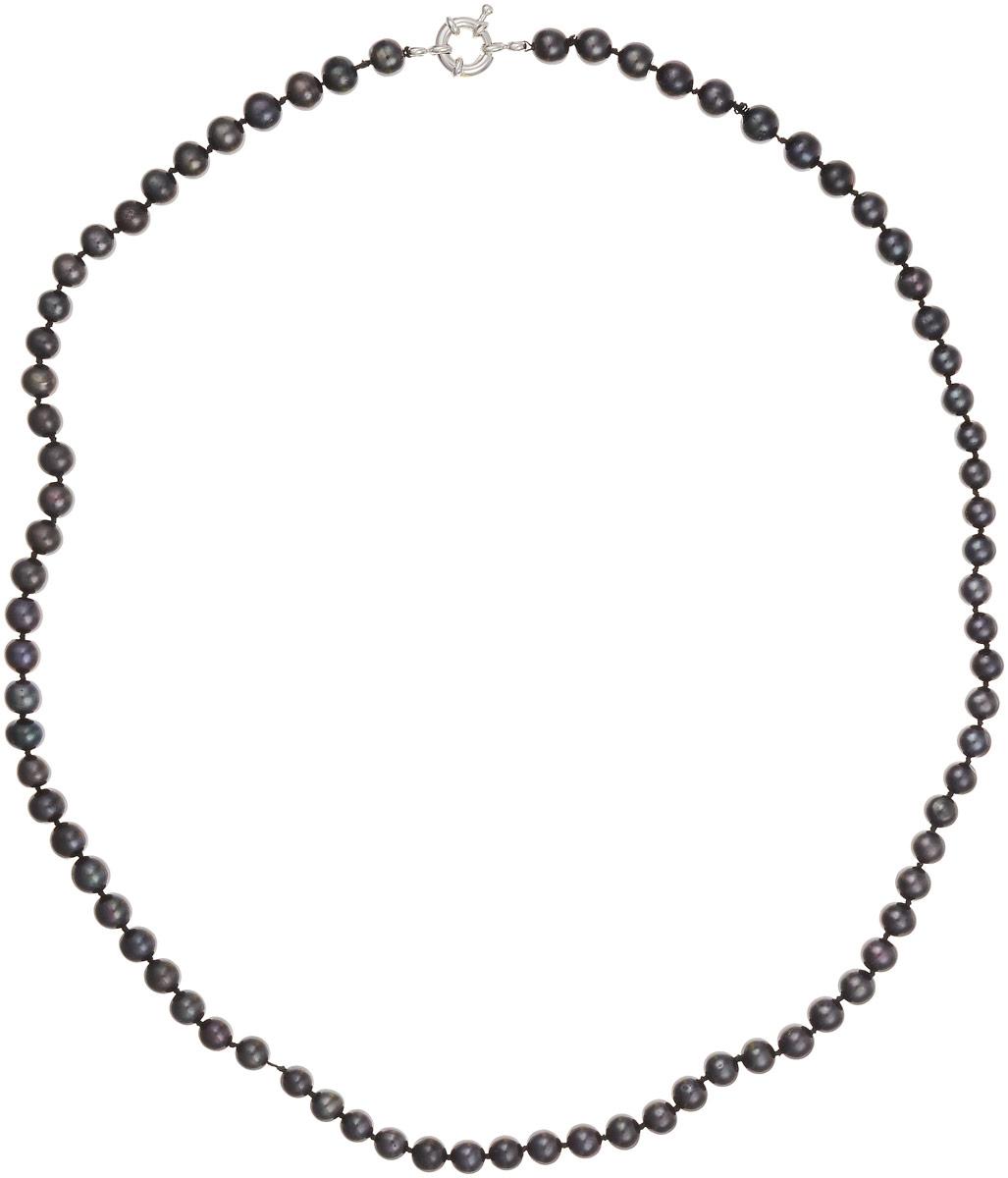 Бусы Art-Silver, цвет: темно-коричневый, фиолетово-зеленый, длина 60 см. КЖ7-8АА+60-1868Бусы-ниткаБусы Art-Silver изготовлены из культивированного жемчуга. Изделие оформлено круглыми бусинами и застегивается на шпренгельный замок из бижутерного сплава.