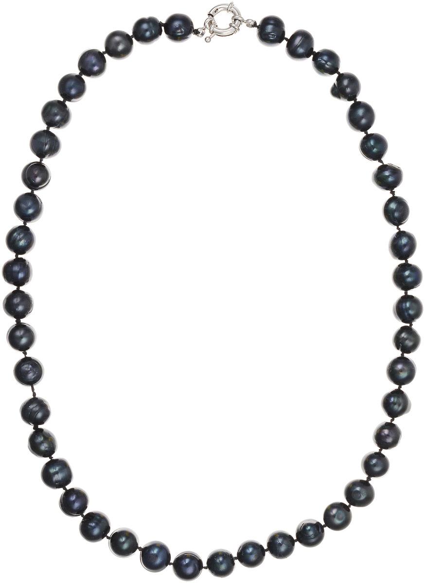 Бусы Art-Silver, цвет: черно-синий, длина 50 см. КЖ11-12А50-757Бусы-ниткаБусы Art-Silver выполнены из культивированного жемчуга, нанизанного на текстильную нить. Украшение застегивается на практичный шпренгельный замок.Крупные бусины диаметром 11 мм из натурального культивированного жемчуга благородного черного цвета с синим отливом имеют слегка неоднородную форму, что подчеркивает естественное происхождение жемчужин.