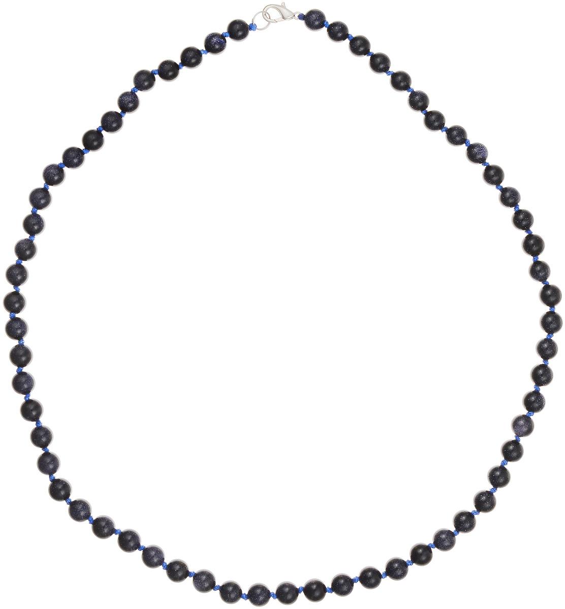 Бусы Art-Silver, цвет: темно-синий, длина 60 см. Ав8-60-423Бусы-ниткаБусы Art-Silver выполнены из авантюрина, нанизанного на текстильную нить. Украшение застегивается на практичный карабин из бижутерного сплава. Бусины диаметром 6 мм имеют характерный для натурального авантюрина блеск, напоминающий множество блесток, заключенных внутри камня, благодаря чему такие бусы красиво играют на свету. Нить окрашена в синий цвет, что подчеркивает оригинальные переливы бусин.