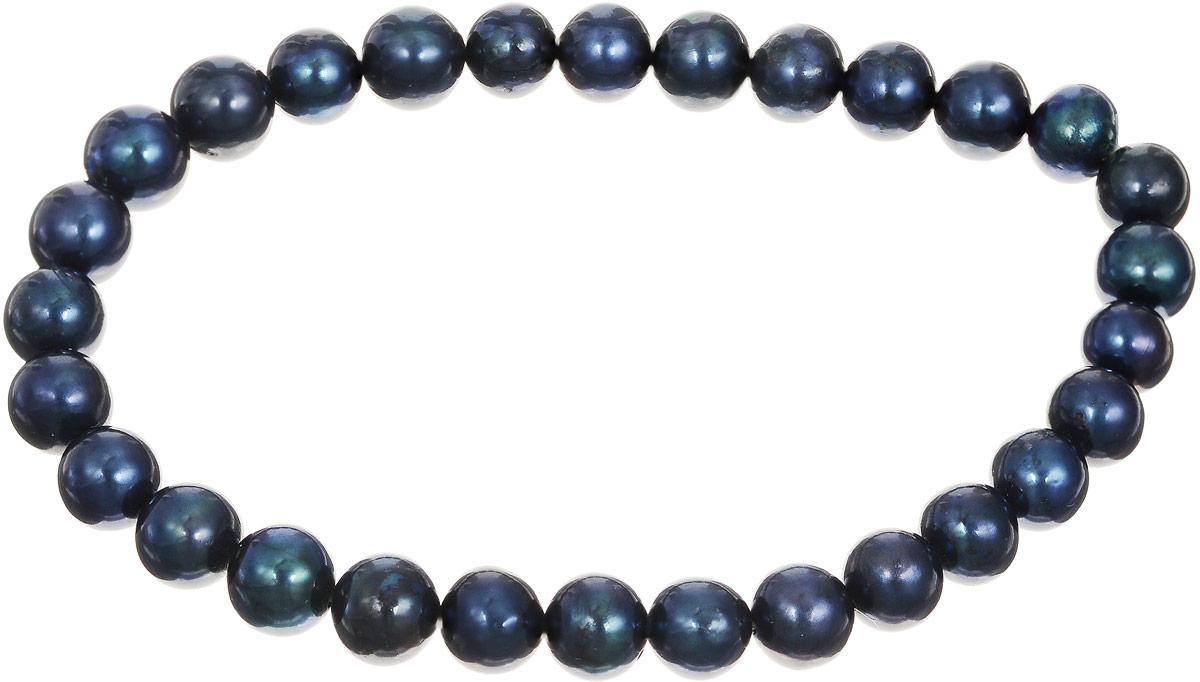 Браслет Art-Silver, цвет: темно-синий, изумрудный. КЖ6-7АА+-48939864|Серьги с подвескамиБраслет Art-Silver изготовлен из культивированного жемчуга. Изделие оформлено круглыми бусинами и оснащено эластичной резинкой для удобства надевания.
