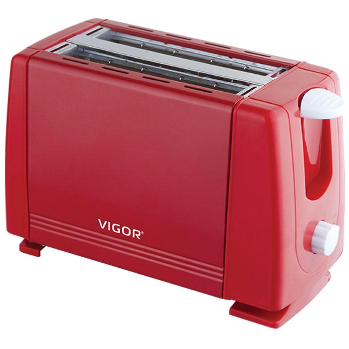 Vigor HX-6017, Red тостерHX-6017Тостер Vigor HX-6017 представляет собой сочетание удобства и функциональности. Вы можете регулировать степень поджаривания хлеба (доступно 6 режимов) по вашему вкусу. Кнопка отмена поможет вовремя исправить сделанную спросонья ошибку. Ухаживать за тостером легко и приятно благодаря наличию поддона для крошек. Тостер выжигает рожицу медвежонка на хлебе.