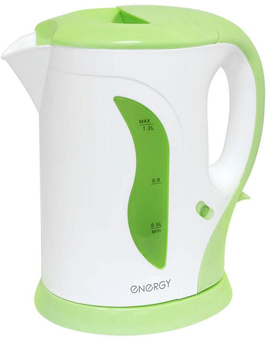 Energy E-207, Light Green электрический чайник54 153108Электрический чайник Energy E-207 прост в управлении и долговечен в использовании. Изготовлен из высококачественных материалов. Прозрачное окошко позволяет определить уровень воды. Мощность 1100 Вт позволит быстро вскипятить 1,2 литра воды. Для обеспечения безопасности при повседневном использовании предусмотрены функция автовыключения, а также защита от включения при отсутствии воды.