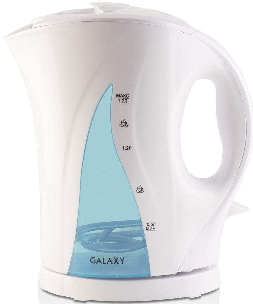 Galaxy GL 0101, Light Blue электрический чайник4630003368850Электрический чайник Galaxy GL 0101 прост в управлении и долговечен в использовании. Изготовлен из высококачественных материалов. Прозрачное окошко позволяет определить уровень воды. Мощность 2200 Вт позволит вскипятить 1,7 литра воды в считанные минуты. Беспроводное соединение позволяет вращать чайник на подставке на 360°. Для обеспечения безопасности при повседневном использовании предусмотрены функция автовыключения, а также защита от включения при отсутствии воды.