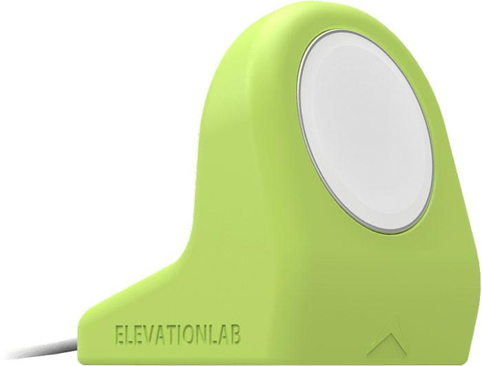Elevation Lab NightStand, Matte Sport Green док-станция для Apple WatchNS-105Ежедневно заряжать Apple Watch теперь ещё удобнее и безопаснее с подставкой Elevation Lab NightStand, изготовленной из высококачественного силикона. NightStand крепится к столу или прикроватной тумбочке на присоске, так что случайное падение исключено. Адаптирована для зарядного устройства Apple Watch Charger. Благодаря компактному дизайну она удачно впишется в ваш интерьер.Изготовлена из прочного высококачественного силикона, применяемого в медицинском оборудованииНадёжно удерживает магнитный зарядный кабель Apple WatchФиксируется на плоской поверхности с помощью присоскиМожно установить вертикальноКабель легко вынимается при необходимостиПодставка несовместима с блочным браслетом AppleЗарядное устройство в комплект не входит.