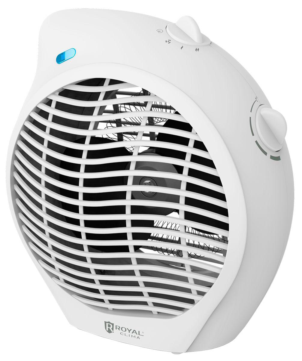 Royal Clima RFH-L2000DS-WT электрический тепловентиляторRFH-L2000DS-WTТепловентилятор Royal Clima RFH-L2000DS-WT - это высокая скорость обогрева благодаря спиральному нагревательному элементу. Royal Clima RFH-L2000DS-WT сочетает в себе 2 функции: вентиляция и 2 режима обогрева воздуха. Безопасность и простота эксплуатации достигается за счет системы безопасного использования Security Project, включающей в себя встроенный предохранитель от перегрева, защиту от опрокидывания и высокий класс электрозащиты.Для удобной установки прибор обладает увеличенной длиной шнура питания 1,3 метра.Спиральный нагревательный элемент обеспечивает быстрый обогрев воздуха в помещенииКонтроль температуры обогрева. Регулируемый термостат для настройки желаемой температуры нагрева 2 в 1: тёплый и холодный обдув (специальный режим холодного обдува - вентиляции)2 режима нагрева воздуха: мягкий и интенсивный Класс электрозащиты I