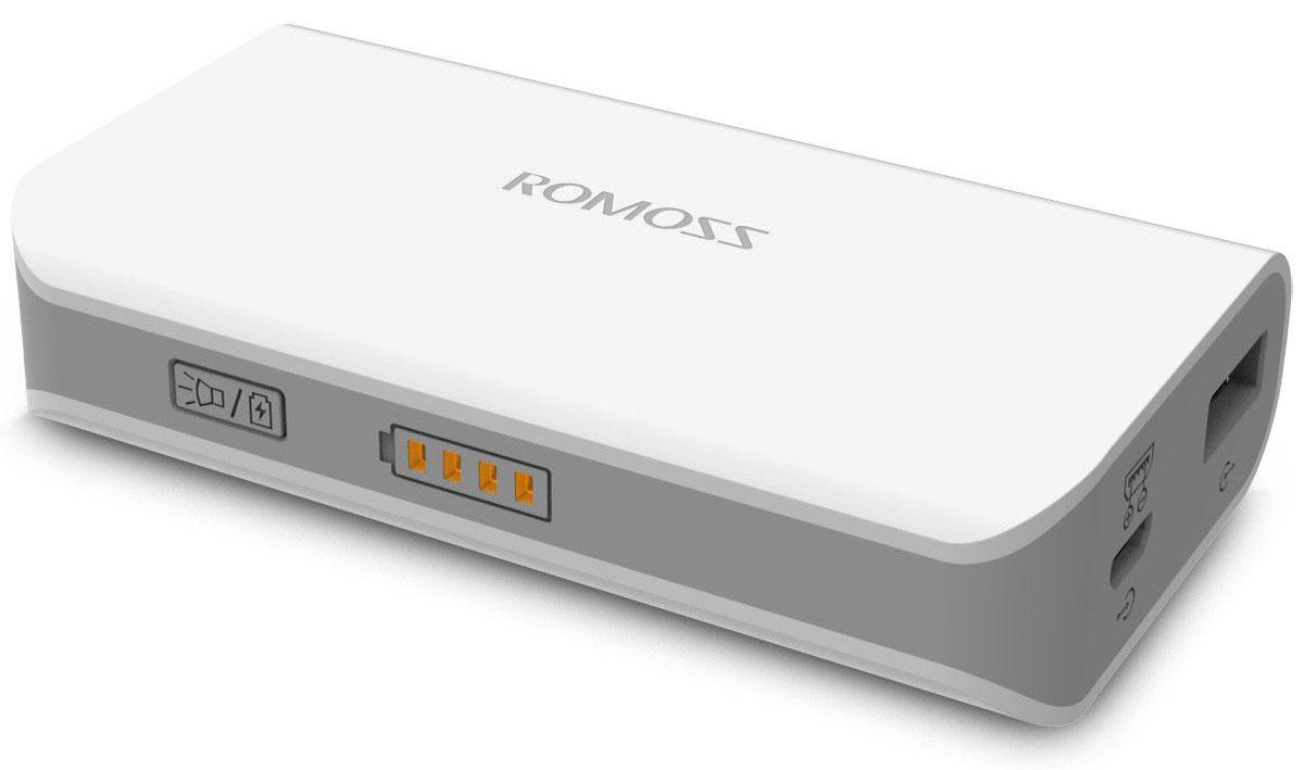 Romoss Solo 2, White внешний аккумуляторSolo 2Легкий, стильный и мощный внешний аккумулятор Romoss Solo 2 легко ложится в руку. Вы и представить себе не могли, как легко и незаметно можно заряжать телефон во время походов по магазинам или прогулок на воздухе.Разработанный на основе технологии FitCharge, Romoss Solo 2 полностью совместим с широким спектром планшетов, смартфонов, МР3- и МР4-плееров и других мобильных устройств.Передовая технология Fitcharge позволяет автоматически определять входной ток различных устройств и другие требования при зарядке, обеспечивая улучшенную совместимость.Встроенный выход на 2,1 А позволяет заряжать ваши устройства быстрее, чем это было возможно ранее. Внешний аккумулятор также снабжен защитной системой, поэтому вы можете не волноваться при быстрой зарядке.Встроенный вход на 2,1А обеспечивает полную зарядку внешнего аккумулятора всего за 2,5 часа при помощи iCharger 12 (блок питания на 2,1А).Электроника устройства снабжена современной многоуровневой защитой, которая теперь еще лучше и всесторонне защищает ваши мобильные устройства, обеспечивая безопасность при зарядке:Защита от перезаряда;Защита от переразряда;Защита от перегрузки по напряжению;Защита от перегрузки по току;Температурная защита;Защита от замыкания;Защита от сброса.В случае неиспользования в течение 60 секунд аккумулятор автоматически выключается, потому вы можете больше не волноваться о напрасной трате энергии.Четыре встроенных светодиодных индикатора загораются оранжевым при зарядке устройства или самого аккумулятора и указывают на степень заряда. Мигание последнего индикатора подсказывает пользователю, что внешний аккумулятор нужно оставить заряжаться.Эксклюзивный корпус устройства с элегантной отделкой выполнен из PS + ABS пластика. Благодаря бесшовной конструкции и устойчивому к царапинам покрытию корпус устройства всегда выглядит как абсолютно новый.