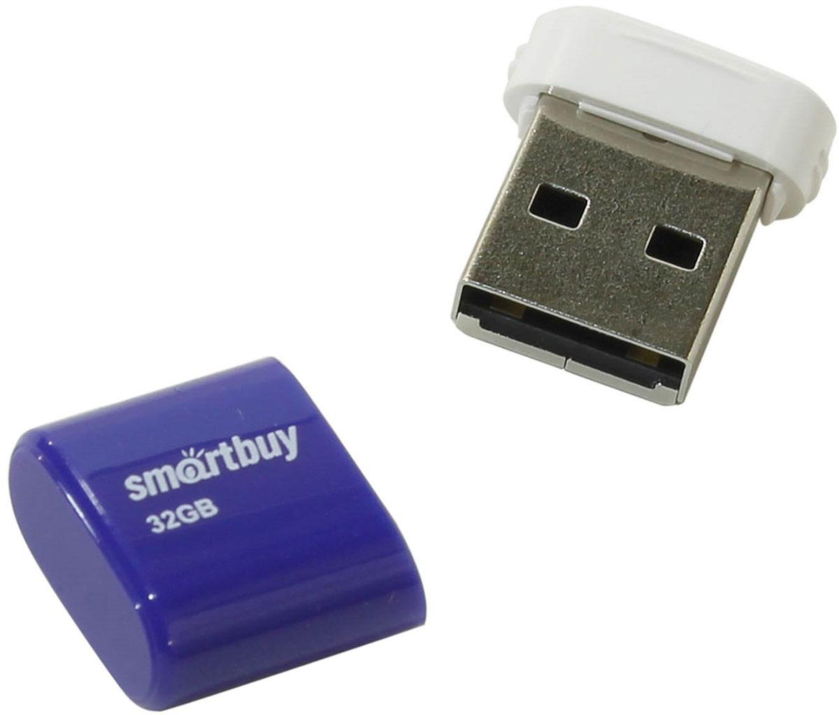 SmartBuy Lara 32GB, Blue USB-накопительSB32GBLARA-BSmartBuy Lara - это стильный, компактный и производительный флеш-накопитель. Он позволяет быстро передавать большое количество информации, такой как документы, фотографии, видео- и аудиофайлы и даже фильмы. Накопитель SmartBuy Lara можно использовать как временное, так и постоянное хранилище информации. Корпус оснащен петлей для подвешивания, которая позволяет накопителю всегда оставаться под рукой.