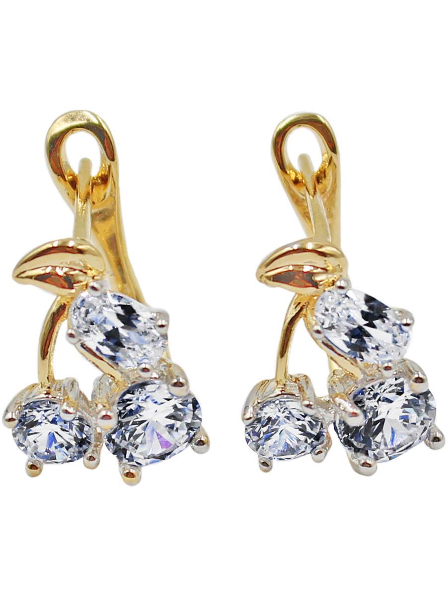 Серьги Taya, цвет: золотистый. T-B-11990-EARR-GOLDПуссеты (гвоздики)Модные позолоченные серьги с английской застежкой изготовлены из бижутерного сплава. Серьги оформлены тремя крупными цирконами.