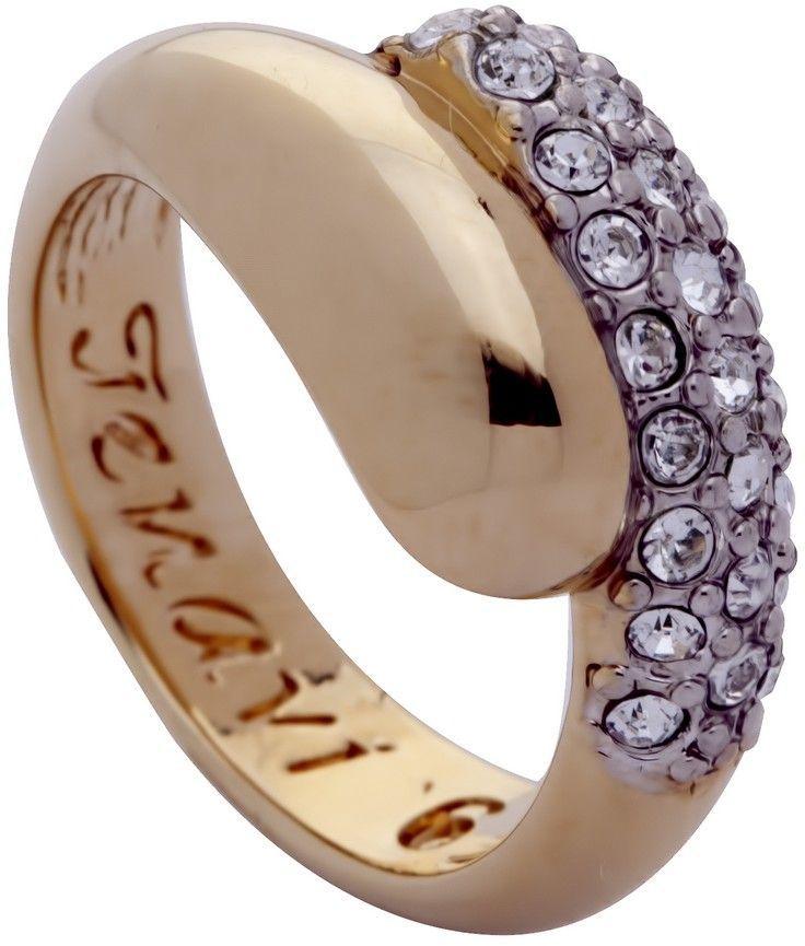 Кольцо Jenavi Озон. Литела, цвет: золотой, белый. j947q000. Размер 16Коктейльное кольцоИзящное кольцо Jenavi из коллекции Озон. Литела изготовлено из ювелирного сплава с покрытием из родированной позолоты. Изделие выполнено в необычном дизайне и дополнено кристаллами Swarovski. Стильное кольцо придаст вашему образу изюминку, подчеркнет индивидуальность.