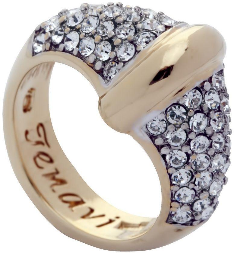Кольцо Jenavi Озон. Фрона, цвет: золотой, белый. j955q000. Размер 16Коктейльное кольцоИзящное кольцо Jenavi из коллекции Озон. Фрона изготовлено из ювелирного сплава с покрытием из родированной позолоты. Изделие выполнено в необычном дизайне и дополнено кристаллами Swarovski. Стильное кольцо придаст вашему образу изюминку, подчеркнет индивидуальность.