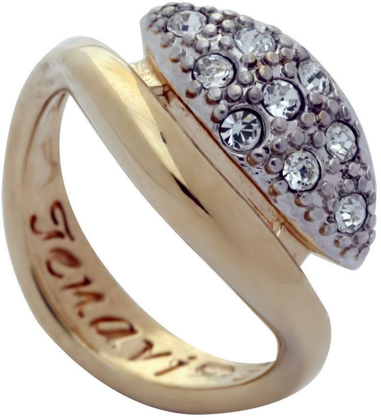 Кольцо Jenavi Озон. Ракин, цвет: золотой, белый. j958q000. Размер 17Коктейльное кольцоИзящное кольцо Jenavi из коллекции Озон. Ракин изготовлено из ювелирного сплава с покрытием из родированной позолоты. Изделие выполнено в необычном дизайне и дополнено кристаллами Swarovski. Стильное кольцо придаст вашему образу изюминку, подчеркнет индивидуальность.