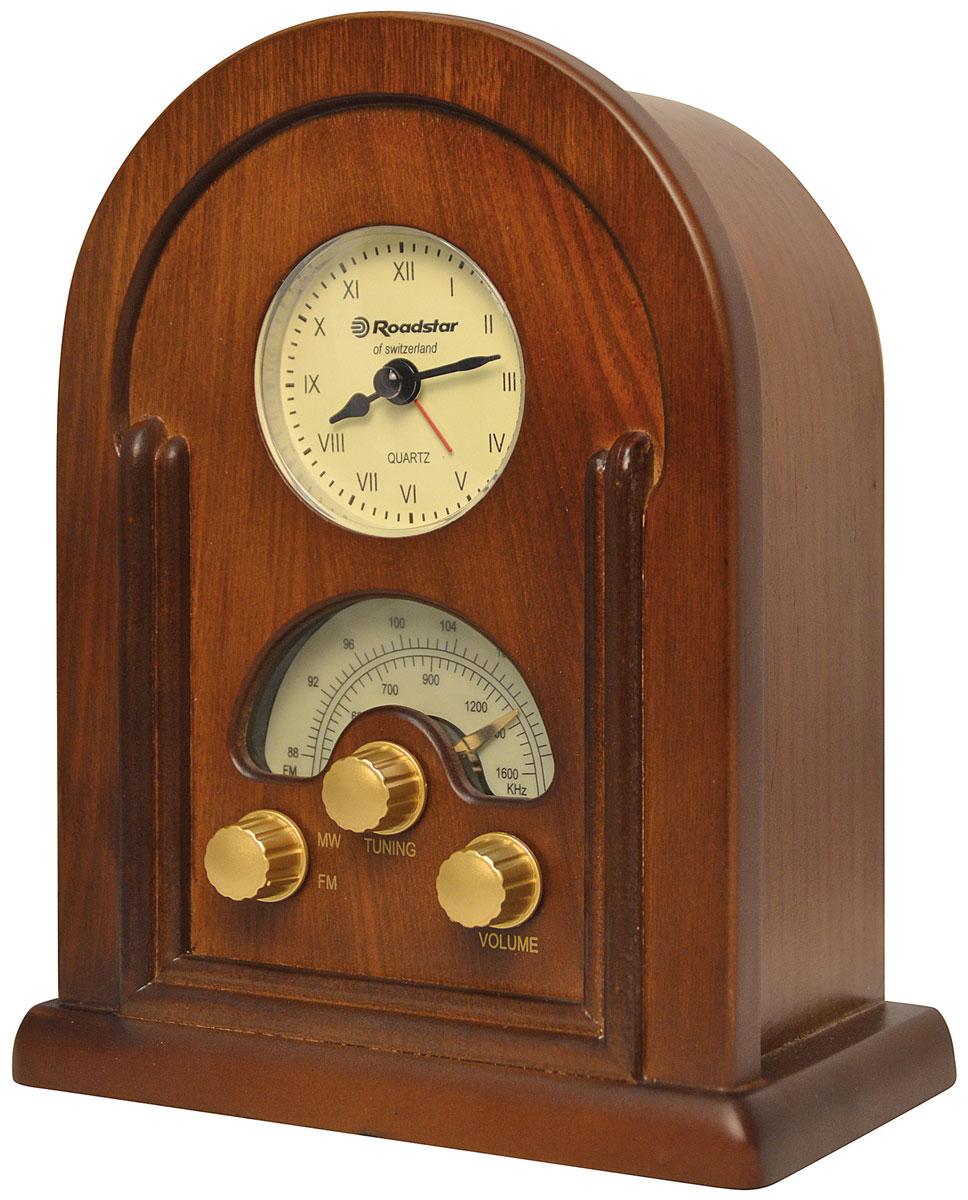 RoadStar HRA-1430 ретро-радиоHRA-1430Оригинальный радио проигрыватель RoadStar HRA-1430 станет прекрасным подарком для любителя ретро-дизайна. Встроенные кварцевые часы с функцией радио будильника добавят ему значимости. RoadStar HRA-1430воспроизводит радио с FM/MW частот и имеет понятное управление.
