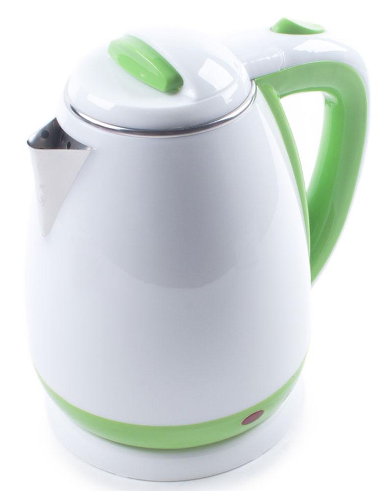 Endever KR-241S электрочайникKR-241SЭлектрический чайник Endever KR-241S прост в управлении и долговечен в использовании. Изготовлен из высококачественных материалов и имеет эргономичную ненагревающуюся ручку. Мощность 2100 Вт способна вскипятить 1,8 литра воды в считанные минуты. Двойной корпус с воздушной прослойкой дольше сохраняет тепло. Беспроводное соединение обеспечивает вращение чайника на подставке на 360°. Для безопасности при повседневном использовании предусмотрены функция автовыключения, а также защита от включения при отсутствии воды.