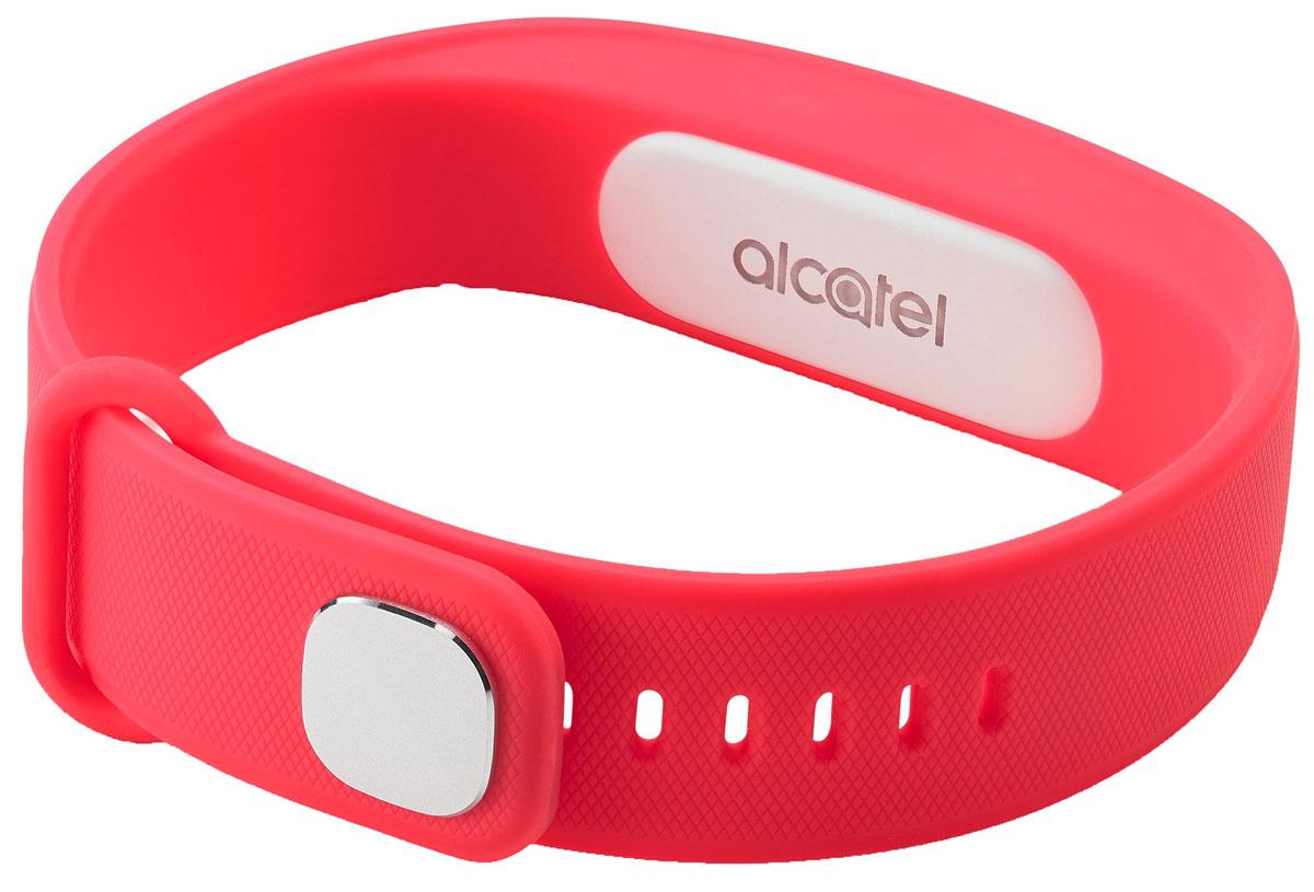 Alcatel MB10, Red White фитнес-браслетALC-MB10-3CALRU1-1Alcatel Move Band - первый фитнес-браслет от компании Alcatel, созданный для тех, кто следит за своим физическим состоянием. Устройство фиксирует не только количество пройденных шагов, сожженных калорий, но и сообщает о качестве вашего сна. У гаджета нет экрана - он способен передать вибрирующий сигнал, который подаст уведомлением на смартфон. Выполненный полностью из силиконового материала, браслет адаптирован к внешней среде - все элементы питания глубоко спрятаны, что удобно для ежедневного использования.Теперь, отправляясь в душ или в бассейн, не обязательно снимать браслет - он защищен по классу IP67, что дает ему устойчивость к воздействию влаги при погружении на глубину до 1 метра. Емкости встроенной батареи хватает на неделю непрерывной работы устройства, а ее подзарядка занимает не более 2 часов.