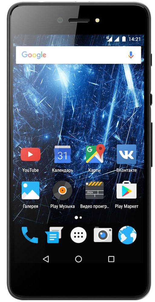 Highscreen Razar, Black23834Highscreen Razar — компактный смартфон с прекрасной селфи-камерой.В борьбе за технические характеристики многие производители забывают уделить внимание дизайну. Highscreen считает дизайн одним из главных преимуществ, ведь испытывать приятные эмоции от взаимодействия со своим смартфоном - это прекрасно.Продуманная эргономика, мягкие изгибы корпуса и минимальная толщина 7.6 мм - все это Razar.Сдвиньте вниз специальную кнопку HiSlide, и камера запустится. В одно движение переключайтесь между основной и фронтальной камерами, а чтобы сделать фото просто нажмите кнопку громкости вниз. Эта функция незаменима при съемке селфи или в холодное время года, когда так не хочется снимать перчатки.Широкоугольная 5 Мпикс фронтальная камера Highscreen Razar позволяет захватить как можно больше объектов в кадре, а встроенная технология улучшения изображения поможет скрыть недостатки или изменять цвет в реальном времени. Основная камера на 8 Мпикс использует увеличенный размер пикселя 1.2 мкм, что на 30% больше обычного, а диафрагма F2.0 позволяет получать качественные снимки даже при низком освещении.Highscreen Razar обладает ярким пятидюймовым AMOLED-дисплеем с бесконечным уровнем контрастности, а защищает его прочное стекло Gorilla Glass 3.Razar поддерживает все современные беспроводные технологии, включая сверхбыстрый интернет 4G/LTE и российскую спутниковую систему ГЛОНАСС.Телефон сертифицирован EAC и имеет русифицированный интерфейс меню и Руководство пользователя на русском языке.