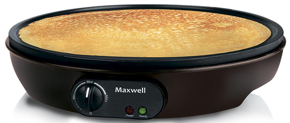 Maxwell MW-1971(BN) блинницаMW-1971(BN)Как можно быстро приготовить блины для всей семьи? Для этого стоит лишь воспользоваться удобной и компактной блинницей MW-1971! Включайте прибор в сеть, устанавливайте необходимую температуру при помощи терморегулятора и приступайте к приготовлению вкусных и ароматных блинчиков. Несмотря на компактные размеры блинницы, готовые блины получаются достаточно большими. Ведь диаметр рабочей поверхности составляет 30 см. Готовить блины на блиннице настоящее удовольствие! Десерт не пригорает, а для переворачивания блинов предлагаются две удобные лопатки на выбор. И все это дополняется приемлемой стоимостью техники, что порадует каждого покупателя.