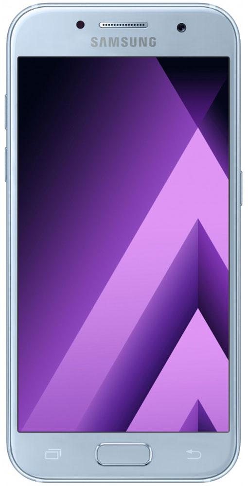 Samsung SM-A520F Galaxy A5 (2017), Light BlueSM-A520FZBDSERСовременный минималистичный корпус из 3D-стекла и металла, а также 5,2-дюймовый экран FHD sAMOLED - все это отличительные черты Galaxy A5 (2017).Плавные линии корпуса, отсутствие выступов камеры, утонченная и элегантная отделка позволяют получить настоящее удовольствие от использования смартфона.Будьте законодателями трендов, а не просто следуйте им. Стильные цветовые решения идеально гармонируют с корпусом из стекла и металла, создавая динамичный и цельный образ. Четыре модных цвета на выбор превосходно дополнят ваш стиль.Благодаря высокому разрешению основной камеры в 16 Mп фотографии всегда будут яркими и красочными. Вместе с Galaxy A5 (2017) почувствуйте себя профессиональным фотографом. Наличие широкого выбора фильтров позволяет подойти к процессу съемки более креативно. Теперь каждая фотография будет особенной.Где бы вы ни находились - на вечерней прогулке или в ночном клубе - ваши фотографии будут идеальными. Камера автоматически адаптируется даже к условиям недостаточной освещенности, а дисплей выполняет роль вспышки. Благодаря Smart-кнопке снимать селфи стало просто. Все, что нужно - выбрать расположение кнопки затвора на экране.Стандарт защиты от воды и пыли IP68 позволяет комфортно использовать смартфоны Galaxy A5 (2017) в любых условиях - будь то дождь или бассейн.Наслаждайтесь играми или просмотром видео еще дольше благодаря увеличенному объему аккумулятора и поддержке технологии быстрой зарядки.Все любимые видео, фото и музыка всегда с вами благодаря поддержке карт памяти объемом до 256 ГБ, а наличие разъема для 2 SIM-карт позволяет легко менять оператора во время путешествий.С функцией Always On Display вся актуальная информация всегда на экране. Просматривайте время, события в календаре и непрочитанные уведомления даже если смартфон находится в спящем режиме.Храните конфиденциальную информацию в защищенной папке. Благодаря безопасной среде KNOX вы можете быть уверены, что ваша личная информац