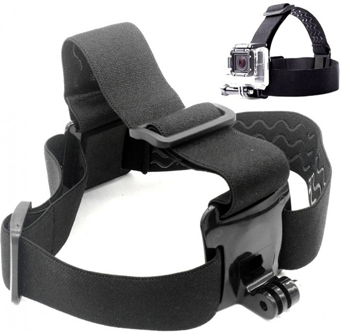 Eken GP23 крепление на голову для GoPro Hero, EkenGP23Эластичное крепление на голову для камеры Eken или GoPro Hero. Крепление также можно использовать для закрепления камеры на каске или шлеме, если другой способ невозможен (например если каска покрыта тканью и к ней нельзя приклеить специальную площадку). Крепление изготовлено из очень качественных материалов. На обратной стороне крепления нанесён силикон (чтобы крепление не соскальзывало).