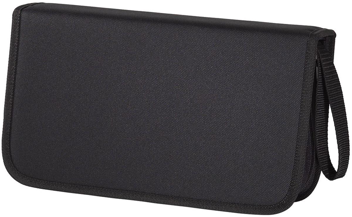 Сумка для CD Hama H-11617 Nylon, Black (104 шт)11617Сумка Hama H-11617 предназначена для хранения и переноски компакт-дисков. Защитит диски от пыли и грязи, продлевая их срок службы. Сумка имеет двусторонние отделения в которые помещаются 104 диска и застегивается на застежку-молнию. Оснащена текстильной ручкой-петлей для переноски.