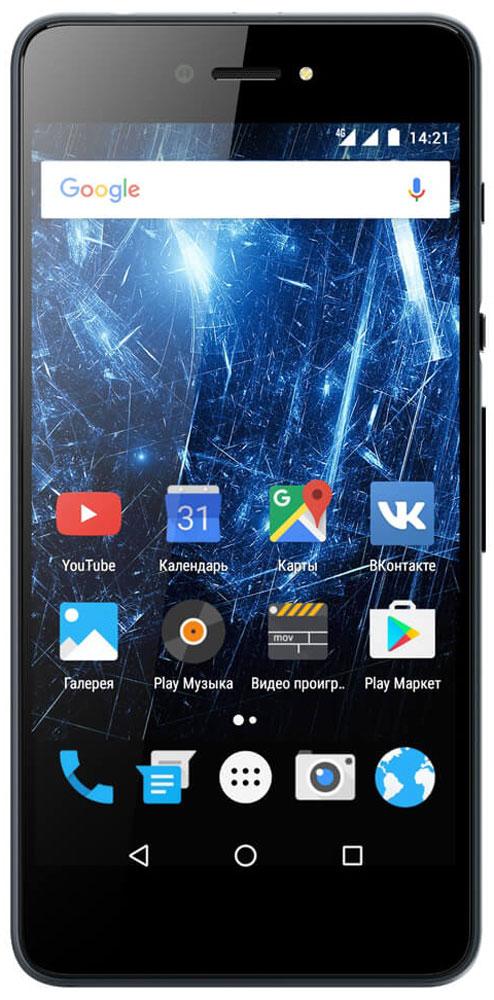 Highscreen Razar Pro, Gray23846Highscreen Razar Pro - компактный смартфон с прекрасной селфи-камерой.В борьбе за технические характеристики многие производители забывают уделить внимание дизайну. Highscreen считает дизайн одним из главных преимуществ, ведь испытывать приятные эмоции от взаимодействия со своим смартфоном - это прекрасно.Highscreen Razar Pro имеет потрясающую текстуру металла, которая достигается девятиступенчатым процессом анодирования и полирования, а глубокий черный цвет вызывает восхищение. Продуманная эргономика, мягкие изгибы корпуса и минимальная толщина 7.6 мм - все это Razar Pro.Сдвиньте вниз специальную кнопку HiSlide, и камера запустится. В одно движение переключайтесь между основной и фронтальной камерами, а чтобы сделать фото просто нажмите кнопку громкости вниз. Эта функция незаменима при съемке селфи или в холодное время года, когда так не хочется снимать перчатки.Широкоугольная 8 Мпикс фронтальная камера позволяет захватить как можно больше объектов в кадре, а встроенная технология улучшения изображения поможет скрыть недостатки или изменять цвет в реальном времени. Основная камера на 13 Мпикс использует увеличенный размер пикселя 1.2 мкм, что на 30% больше обычного, а диафрагма F2.0 позволяет получать качественные снимки даже при низком освещении.Highscreen Razar Pro обладает ярким пятидюймовым AMOLED-дисплеем с бесконечным уровнем контрастности, а защищает его прочное стекло Gorilla Glass 3.Razar поддерживает все современные беспроводные технологии, включая сверхбыстрый интернет 4G/LTE и российскую спутниковую систему ГЛОНАСС.Телефон сертифицирован EAC и имеет русифицированный интерфейс меню и Руководство пользователя на русском языке.