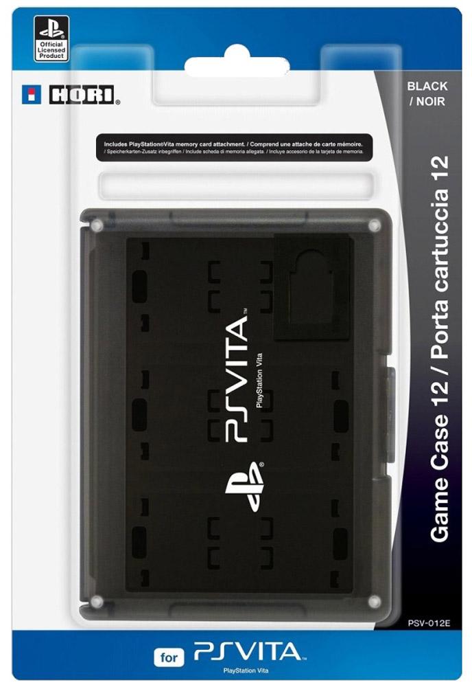 PS Vita: Футляр для хранения 12 игровых флэш карт, BlackPSV-012EФутляр для хранения 12 игровых флэш карт PS Vita с удобным креплением.