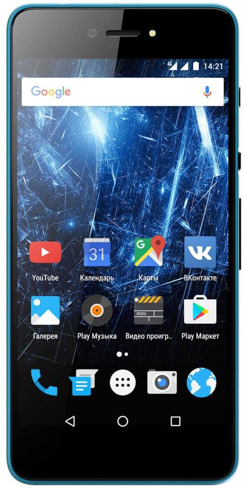 Highscreen Razar, Blue23844Highscreen Razar - компактный смартфон с прекрасной селфи-камерой.В борьбе за технические характеристики многие производители забывают уделить внимание дизайну. Highscreen считает дизайн одним из главных преимуществ, ведь испытывать приятные эмоции от взаимодействия со своим смартфоном - это прекрасно.Продуманная эргономика, мягкие изгибы корпуса и минимальная толщина 7.6 мм - все это Razar.Сдвиньте вниз специальную кнопку HiSlide, и камера запустится. В одно движение переключайтесь между основной и фронтальной камерами, а чтобы сделать фото просто нажмите кнопку громкости вниз. Эта функция незаменима при съемке селфи или в холодное время года, когда так не хочется снимать перчатки.Широкоугольная 5 Мпикс фронтальная камера Highscreen Razar позволяет захватить как можно больше объектов в кадре, а встроенная технология улучшения изображения поможет скрыть недостатки или изменять цвет в реальном времени. Основная камера на 8 Мпикс использует увеличенный размер пикселя 1.2 мкм, что на 30% больше обычного, а диафрагма F2.0 позволяет получать качественные снимки даже при низком освещении.Highscreen Razar обладает ярким пятидюймовым AMOLED-дисплеем с бесконечным уровнем контрастности, а защищает его прочное стекло Gorilla Glass 3.Razar поддерживает все современные беспроводные технологии, включая сверхбыстрый интернет 4G/LTE и российскую спутниковую систему ГЛОНАСС.Телефон сертифицирован EAC и имеет русифицированный интерфейс меню и Руководство пользователя на русском языке.