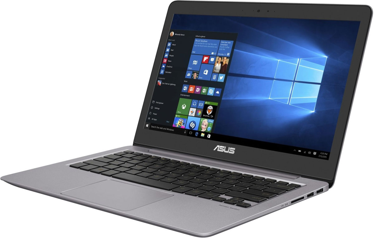 ASUS ZenBook UX310UA (UX310UA-FC051T)UX310UA-FC051TAsus ZenBook UX310UA - невероятно тонкий и эффективныйНовый ноутбук Zenbook UX310 является воплощением элегантности, утонченности и непревзойденной производительности в исключительно тонкой и легкой форме. Выполненный в прочном алюминиевом корпусе с классической концентрической отделкой в стиле Дзен, он имеет толщину всего 18,35 мм. При массе всего 1,45 кг устройство представляет собой идеальный выбор для людей, много времени проводящих в дороге. Благодаря великолепному 13,3-дюймовому дисплею с широкими углами обзора работать на нем всегда комфортно. Оснащенный новейшим процессором Intel Core шестого поколения, мощной видеокартой и исключительно быстрым накопителем, Zenbook UX310 справится с любой задачей.Устройства серии ZenBook всегда были образцом тонкого и легкого дизайна, и ZenBook UX310 является продолжением этой традиции. Толщина его профиля составляет всего 18,35 мм, а чтобы сделать корпус устройства легче и гарантировать его прочность, для производства был выбран специальный алюминиевый сплав. Процесс изготовления корпуса включает в себя несколько десятков этапов, на каждом из которых достигается высочайшая точность операций. К элегантному дизайну с отличительной отделкой в виде концентрических окружностей добавляют нотку изысканности оригинальные цветовые решения: серый кварц (Quartz Grey) и розовое золото (Rose Gold).Высокая вычислительная мощь нового ZenBook UX310 гарантирует быструю работу любых, даже самых ресурсоемких, приложений. В их аппаратную конфигурацию входят современный процессор Intel Core шестого поколения (вплоть до модели i7) и до 16 гигабайт оперативной памяти DDR4, работающей на частоте 2133 МГц. Ноутбук оборудован новейшим двухдиапазонным модулем Wi-Fi стандарта 802.11ac и поддерживает беспроводной интерфейс Bluetooth 4.1. Он оборудован также высокоскоростным портом USB Type-C, имеющим специальную конструкцию, которая позволяет подключать USB-кабель к устройству любой стороной. Ноутбук 