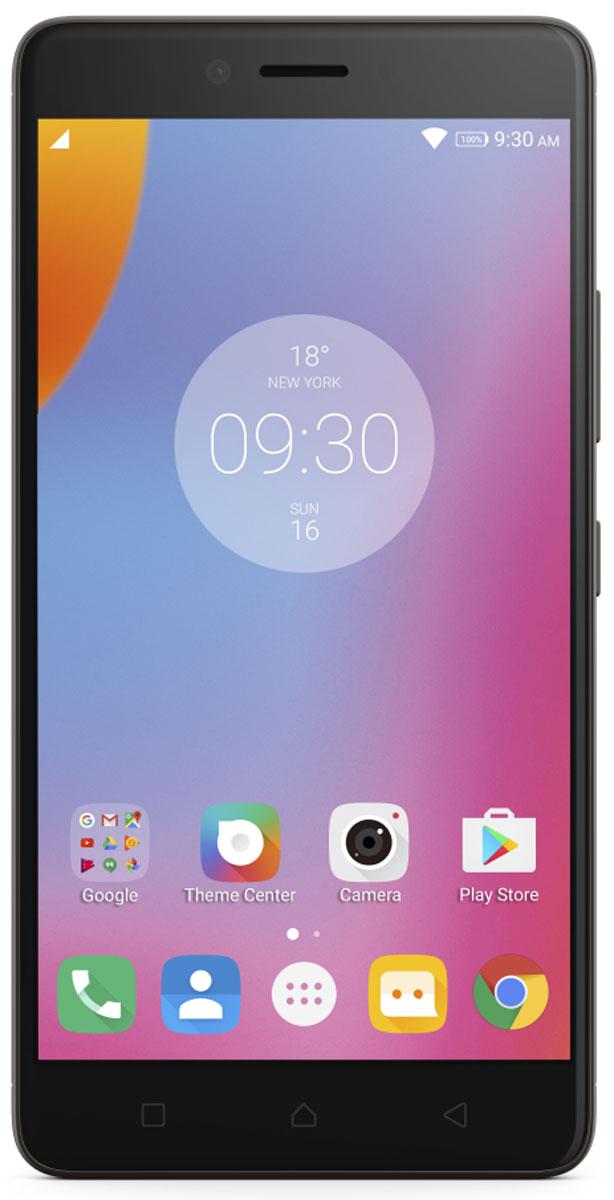 Lenovo K6 Note (K53A48), Dark GreyPA570046RUСмартфон Lenovo K6 Note прекрасен во всех отношениях. Делайте прекрасные снимки памятных моментов с помощью двух камер высокого разрешения и 5,5-дюймового FHD-дисплея с потрясающим качеством изображения. Смартфон Lenovo K6 Note в цельнометаллическом корпусе на платформе Android поддерживает аудиотехнологию Dolby Atmos и отличается наличием высокопроизводительного восьмиядерного процессора и надежного сканера отпечатков пальцев для быстрого доступа к любимым приложениям.Камеры превосходного качества, выдающиеся результаты:Со смартфоном Lenovo K6 Note потрясающие снимки станут обычным делом. Его 16-мегапиксельная задняя камера с быстрым фокусом оснащена двойной вспышкой с системой корреляции световой температуры (CCT), которая поможет предотвратить пересветы или размытость изображений. Если ваша цель - отличные селфи высокой четкости, вы несомненно оцените фронтальную камеру с разрешением 8 Мпикс.Яркий 5,5-дюймовый дисплей Full HD:Lenovo K6 Note обеспечивает реалистичность фотографий и видео, а также буквально оживляет веб-страницы. 5,5-дюймовый дисплей Full HD гарантирует высочайшее качество и четкость изображений благодаря технологии IPS, которая обеспечивает богатую палитру цветов и широкие углы обзора.Разницу можно увидеть, услышать и почувствовать на ощупь:Цельнометаллический корпус Lenovo K6 Note отлично выглядит и прекрасно лежит в руке. Более того, технология улучшенного звучания Dolby Atmos открывает новые стандарты звука при прослушивании музыки и просмотре видео.Отпечаток пальца — это ваш пароль:Зачем запоминать пароль, если вы можете просто прикоснуться к своему телефону и разблокировать его? Усовершенствованный сканер отпечатков пальцев Lenovo K6 Note не только экономит ваше время, но и гарантирует, что никто, кроме вас, не сможет воспользоваться вашим смартфоном.Высокий уровень производительности, длительное время работы от аккумулятора:Сочетание мощного восьмиядерного процессора и новейшей версии операционной 