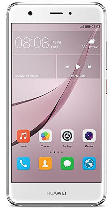 Huawei Nova LTE (CAN-L11), Silver51090XLAHuawei Nova - сочетание элегантности и современных решений. Утончённый и минималистичный дизайн.Создавая Huawei Nova, дизайнеры черпали вдохновение в природе и современной архитектуре, в тонких линиях и контурах, в игре света и тени. Изогнутые грани Huawei Nova дарят ощущение плавности и комфорта. Компактность корпуса достигается за счёт эргономичного расположения внутренних элементов.Задняя панель корпуса Huawei Nova выполнена из аэрокосмического магниево-алюминиевого сплава. Использование технологии пескоструйной обработки позволило создать приятную на ощупь текстурированную поверхность и придать корпусу глянцевый вид. Верхняя часть задней панели выполнена из контрастного глянцевого пластика. Закруглённые края и экран с технологией 2.5D позволяют смартфону идеально располагаться в руке.Основная 12 МП камера смартфона Huawei nova с размером пикселя 1,25 мкм, широкой диафрагмой F2.2 и специальным покрытием объектива, позволяет получить максимально чёткие и яркие снимки.В камере смартфона Huawei Nova используется уникальная комбинация двух технологий автофокусировки: фазовая (PDAF) и контрастная (CAF). Фазовый автофокус используется для быстрой фокусировки, в то время как контрастный сравнивает чёткость двух разных изображений, обеспечивая более высокую степень детализации. Сочетая два режима фокусировки, Huawei Nova позволяет делать высококачественные снимки практически мгновенно.Камера смартфона Huawei Nova позволяет снимать яркие видео в ультравысоком разрешении, фиксируя все мельчайшие детали. Даже при просмотре на большом экране, ваши видео будут выглядеть бесподобно.Ваши селфи станут идеальными благодаря фронтальной камере 8 МП и технологиям Beauty Skin 3.0 и Beauty Make-up 2.0.Сканер отпечатка пальца на задней панели позволяет делать селфи одним касанием.Новые функции режима украшения стали результатом сотрудничества Huawei с мировыми экспертами в области макияжа. Специально подобранные румяна и помада подчеркнут черты 