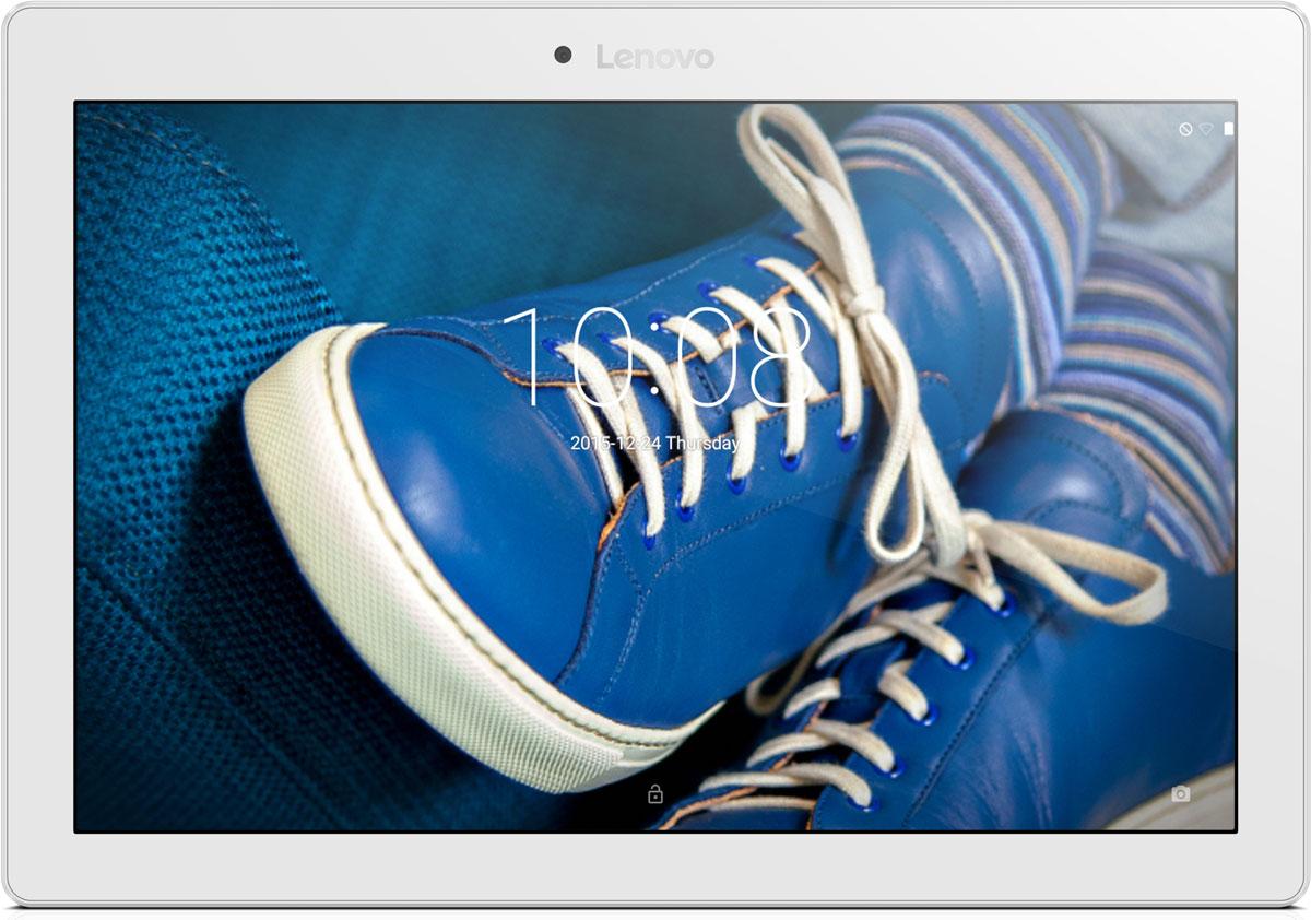 Lenovo Tab 2 A10-30 (TB2-X30F), White (ZA0C0100RU)ZA0C0100RU10,1-дюймовый портативный планшет Lenovo Tab 2 A10-30, созданный для развлечений. HD-дисплей высокого разрешения (1280 х 800) обеспечивает потрясающее качество видео, фотографий и игр. Ультратонкий корпус (менее 9 мм) придает планшету TAB 2 A10-30 непревзойденную портативность.Двойные динамики обеспечивают высокое качество звучания. Планшет TAB 2 A10-30 превосходно подходит для прослушивания музыки и просмотра видео.Черытехъядерный процессор Qualcomm с частотой 1.3 ГГц и оперативная память 2 ГБ позволяют использовать все современные мобильные приложения.Встроенный накопитель емкостью 16 ГБ обеспечит достаточно места для хранения ваших медиафайлов.Благодаря пятимегапиксельной задней камере и двухмегапиксельной фронтальной камере вы сможете насладиться отличным качеством изображения, общаясь в видеочатах с семьей и друзьями.Планшет сертифицирован EAC и имеет русифицированный интерфейс, меню и Руководство пользователя.