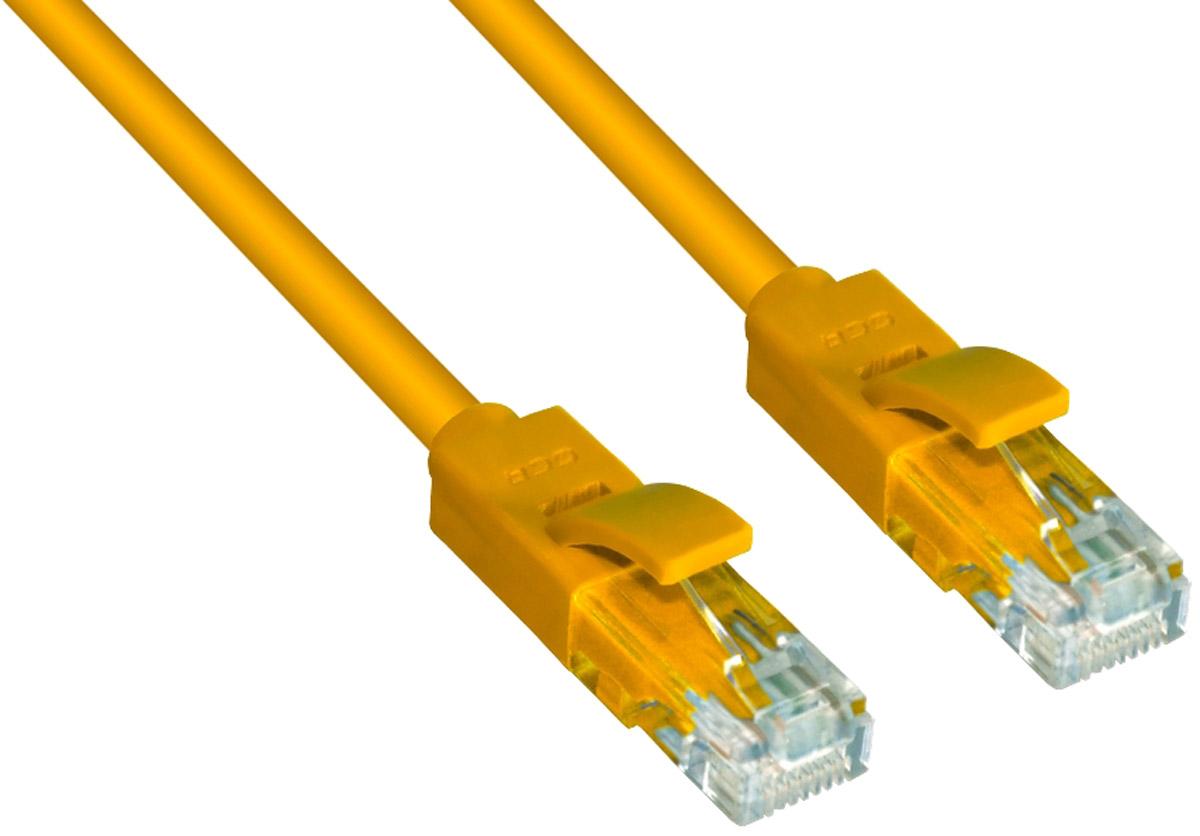 Greenconnect Russia GCR-LNC602, Yellow патч-корд (0,5 м)GCR-LNC602-0.5mВысокотехнологичный современный патч-корд Greenconnect Russia GCR-LNC602 используется для подключения к интернету на высокой скорости. Подходит для подключения персональных компьютеров или ноутбуков, медиаплееров или игровых консолей PS4 / Xbox One, а также другой техники и устройств, у которых есть стандартный разъем подключения кабеля для интернета LAN RJ-45. Идеален в сочетании с 10, 100 и 1000 Base-T сетями.