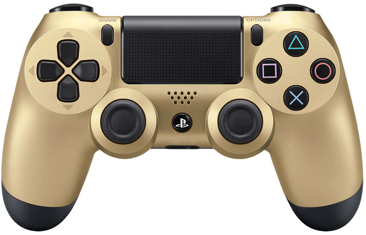 Sony DualShock 4 Cont, Gold геймпад для PS4