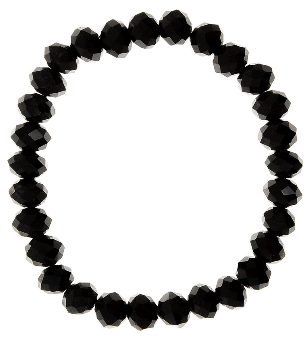 Браслет Taya, цвет: черный. T-B-11779-BRAC-BLACKБраслет для шармовУниверсальный однотонный браслет на резинке. Огранка кристаллов идеальная. они ярко искрятся под любым освещением. Такой браслет можно носить с фирменными часами TAYA, а также с другими такими же браслетами в цветовой гамме.