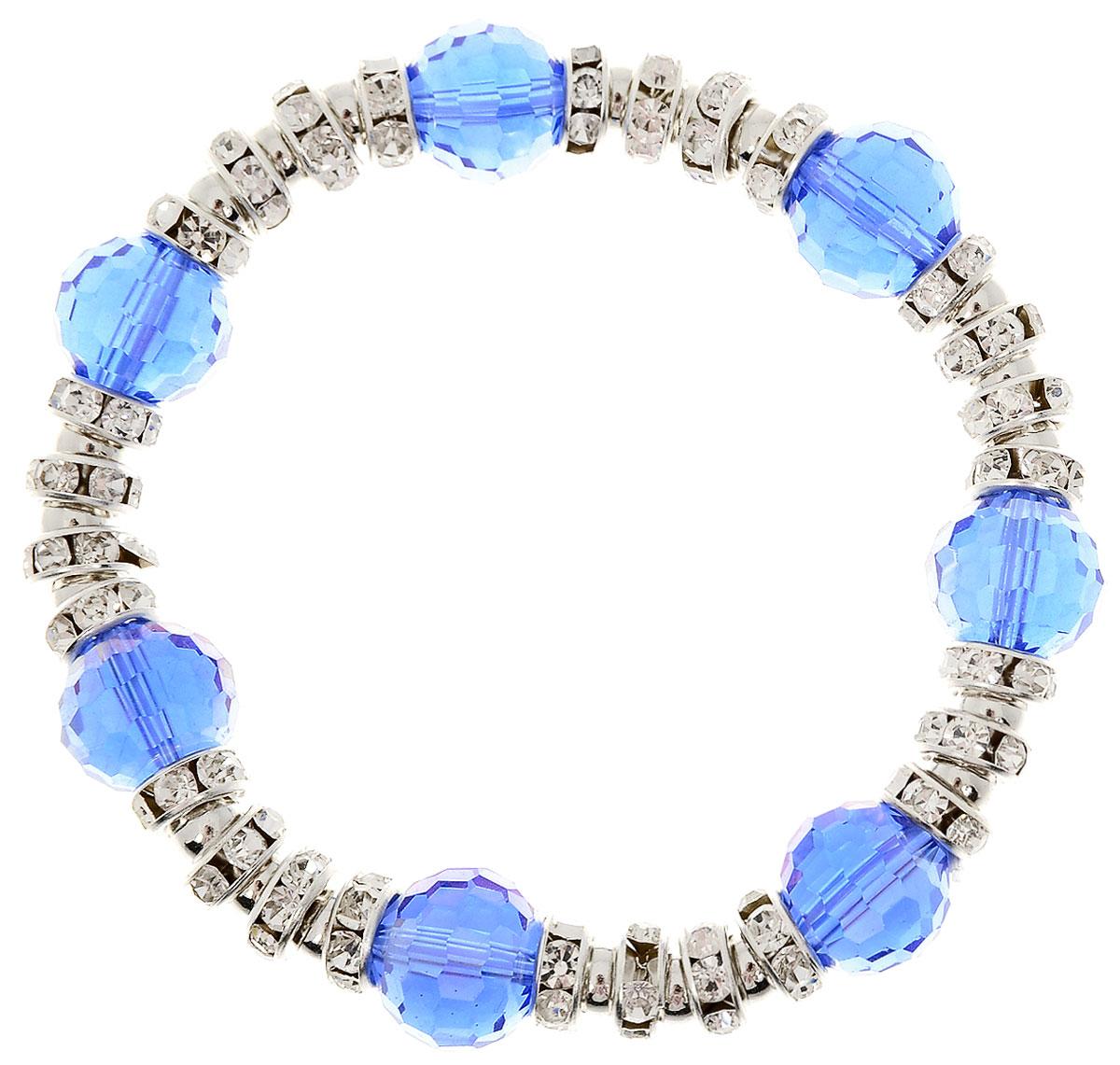 Браслет Taya, цвет: темно-синий. T-B-11921-BRAC-NAVY39864|Серьги с подвескамиУдобный универсальный браслет на резинке. Можно носить его как дополнение к часам или к другим браслетам TAYA.